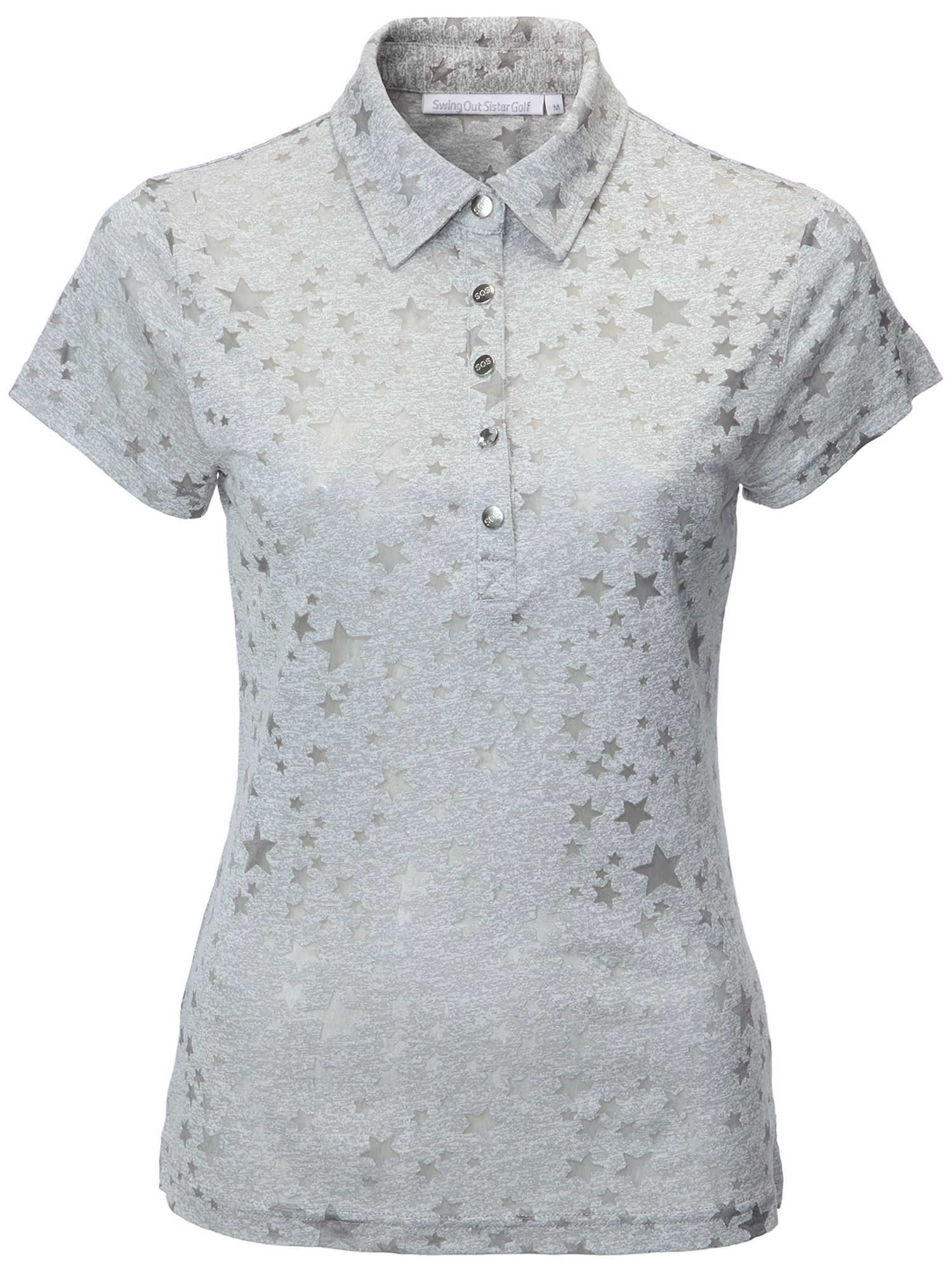Swing Out Sister Christina Star Print Cap Sleeve Shirt, Grey