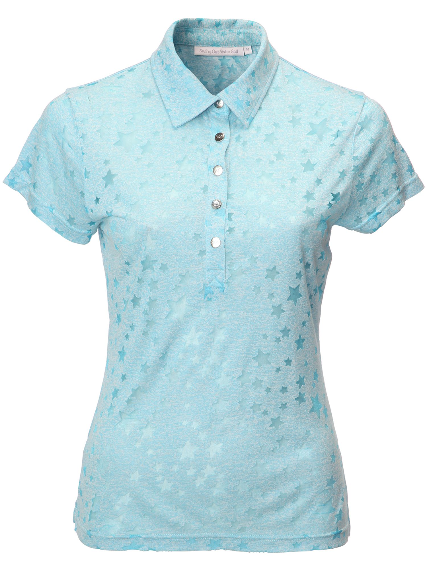 Swing Out Sister Christina Star Print Cap Sleeve Shirt, Blue
