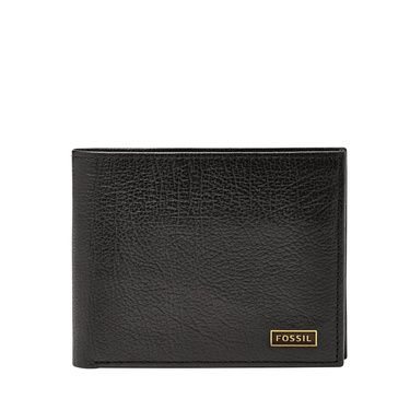 Fossil ML3345001 mens omega bifold wallet Black