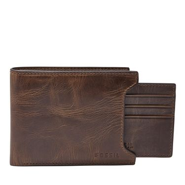 Fossil ML3681200 derrick flip ID bifold Dark Brown