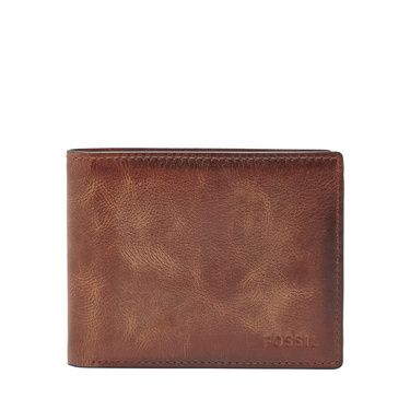 Fossil ML3681200 derrick flip ID bifold Brown