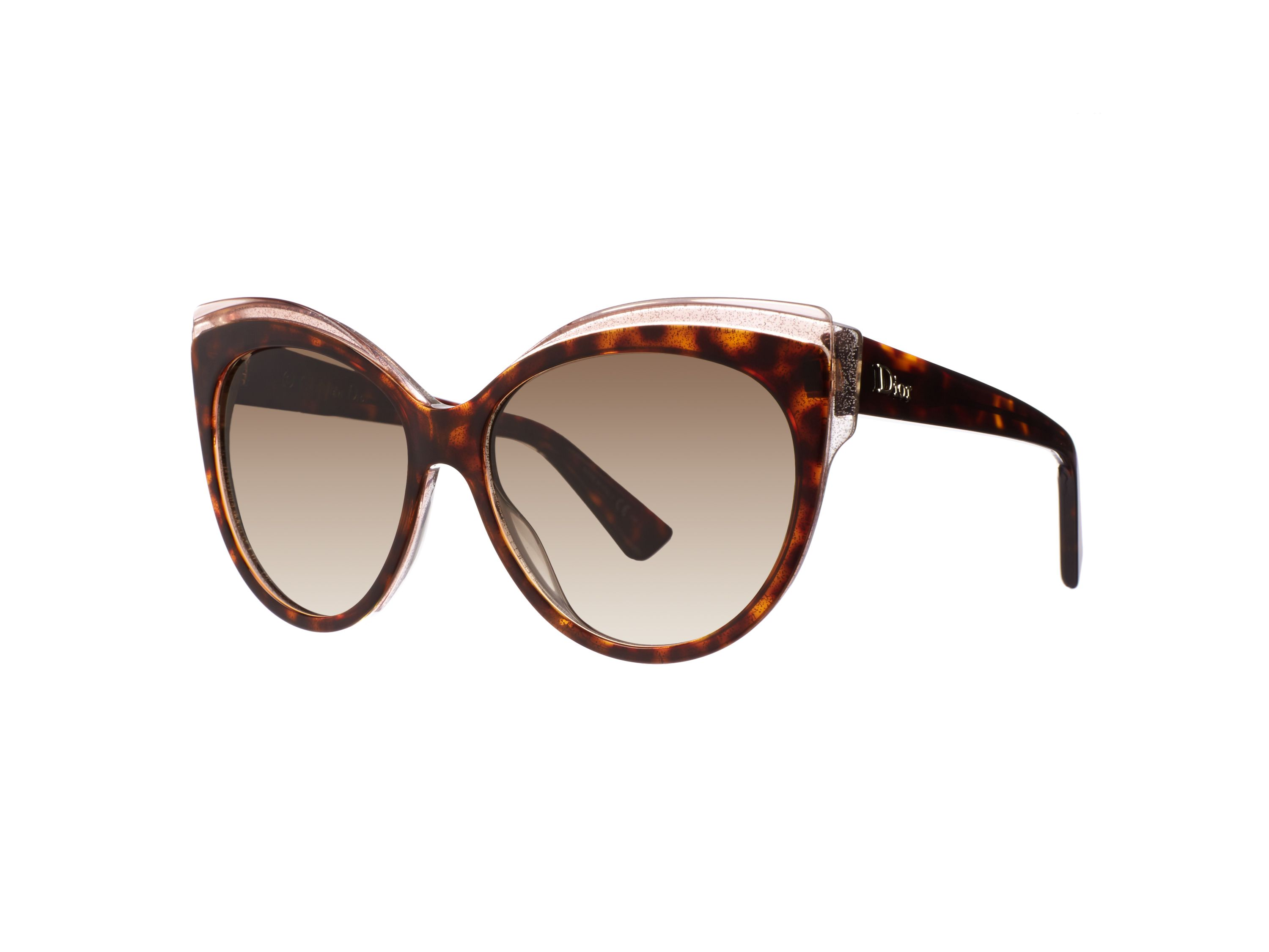 Women`s brown gradient rectangular sunglasses