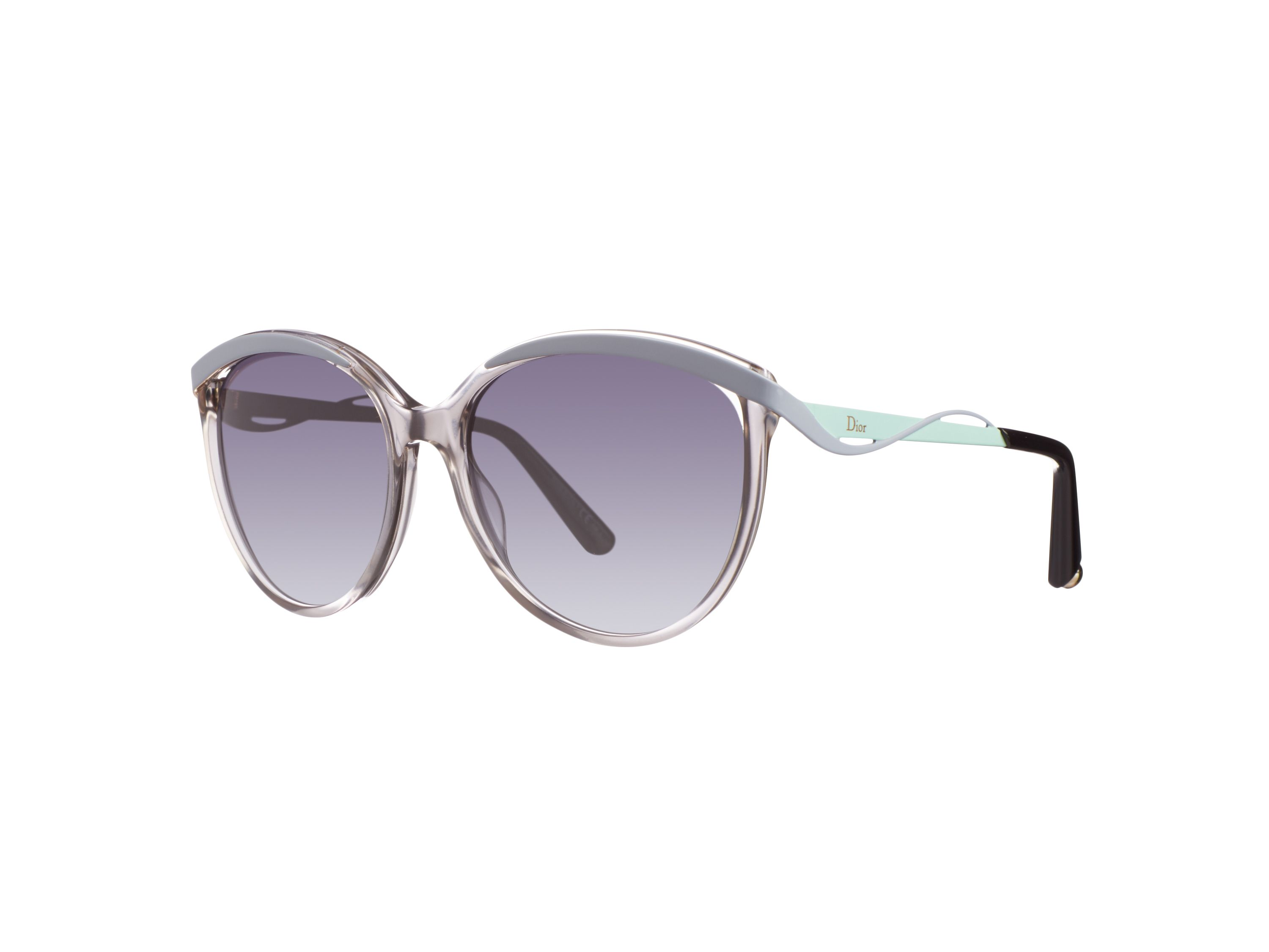 Women`s grey gradient rectangular sunglasses