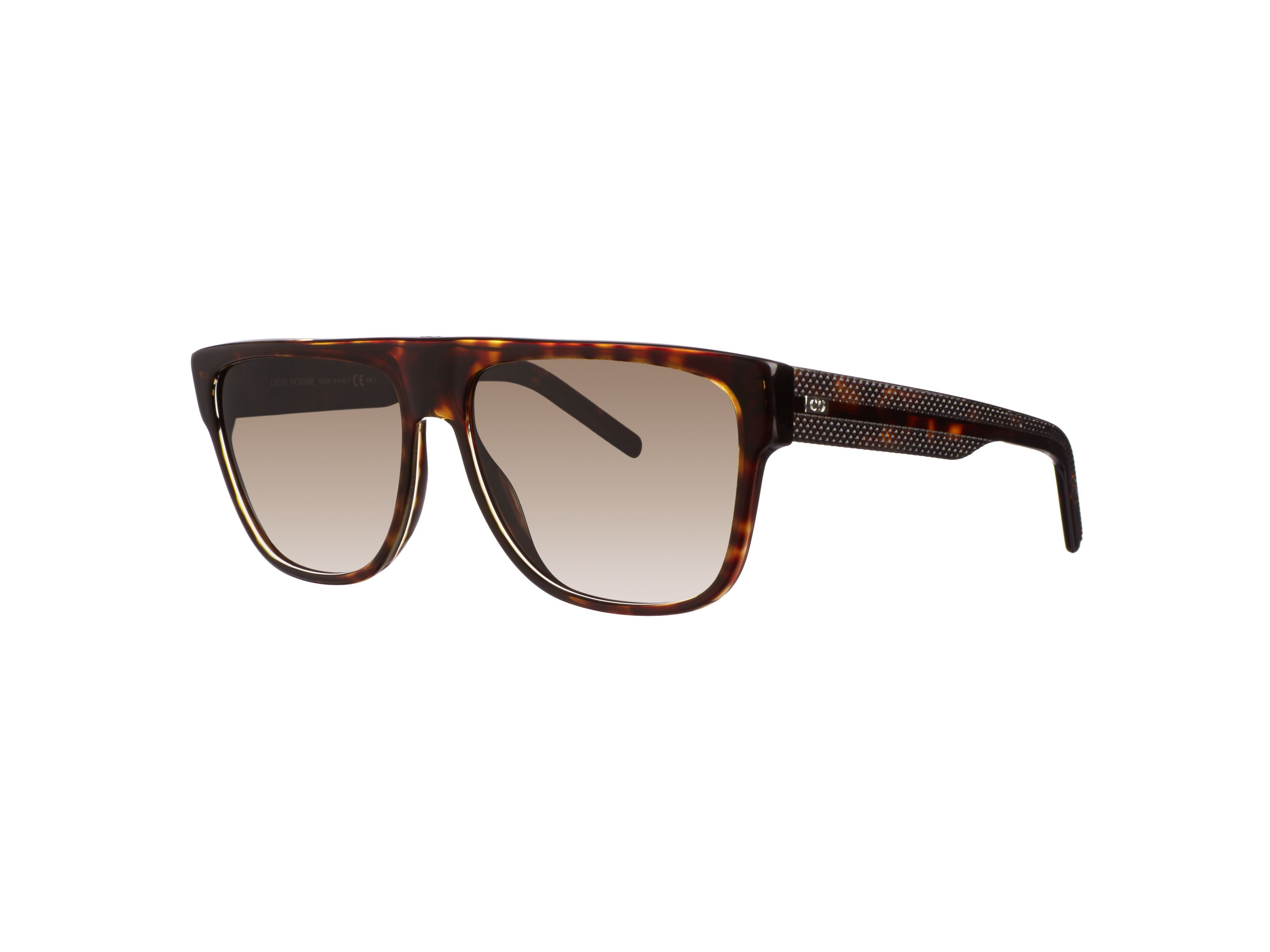 Men`s brown rectangular sunglasses