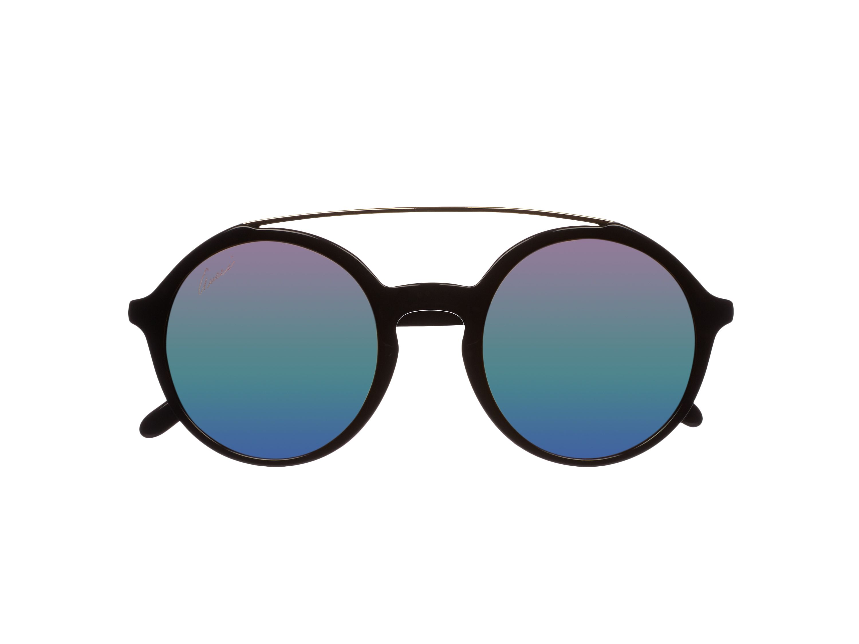 Women`s green polar rectangular sunglasses