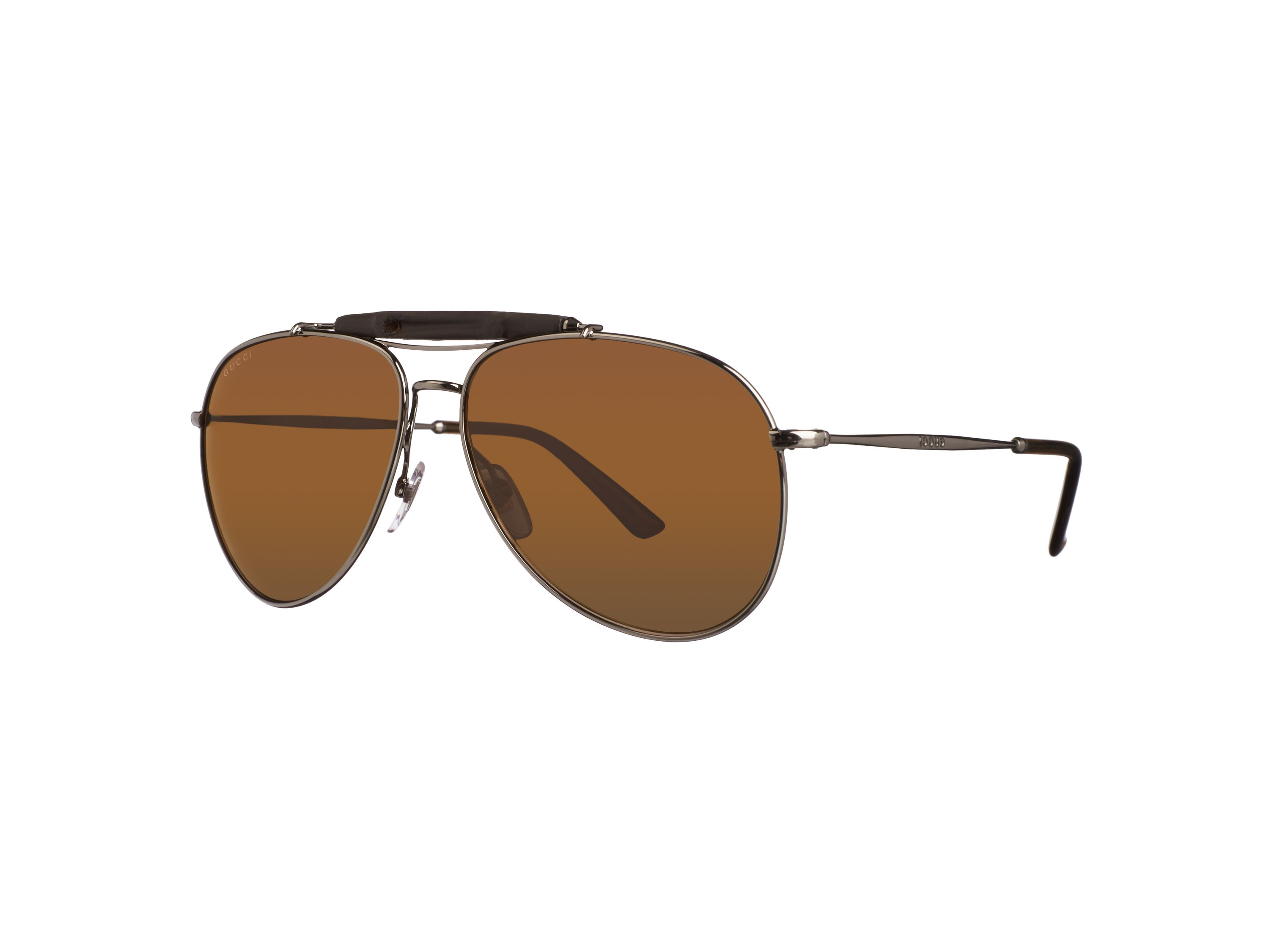 Men`s bronze polar rectangular sunglasses