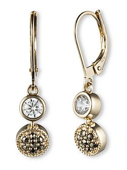 Crystal and Marcasite Drop Earrings