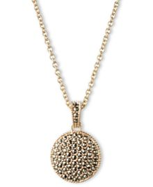 JUDITH JACK Double Sided Marcasite Pendant Necklace