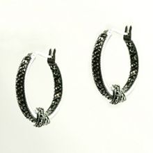 JUDITH JACK Loveknot Marcasite Earrings