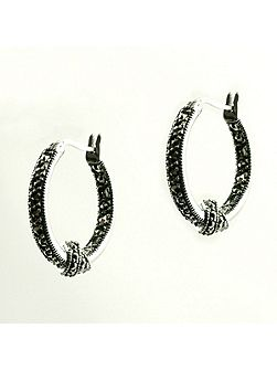 Loveknot Marcasite Earrings