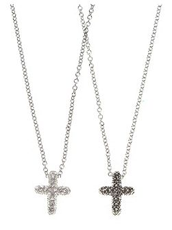 Two Sided Marcasite Heart Necklace
