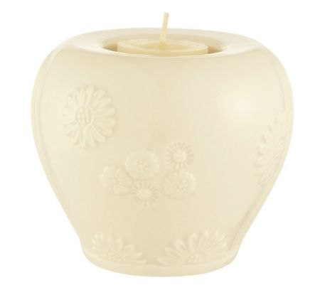 Belleek Living Sunflower reversible candlestick