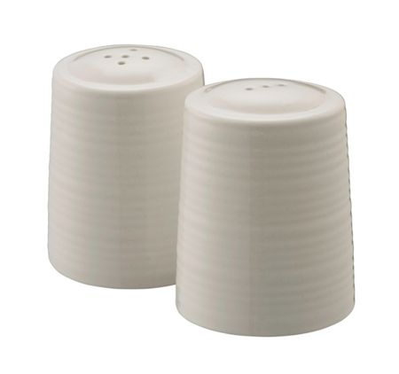 Belleek Living Ripple salt and pepper