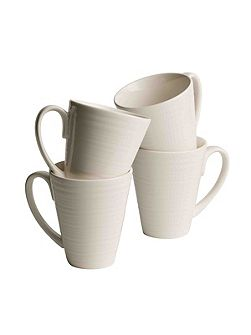 Ripple 4 piece mug set