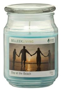 Day at the beach candle