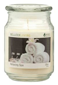 Relaxing spa candle