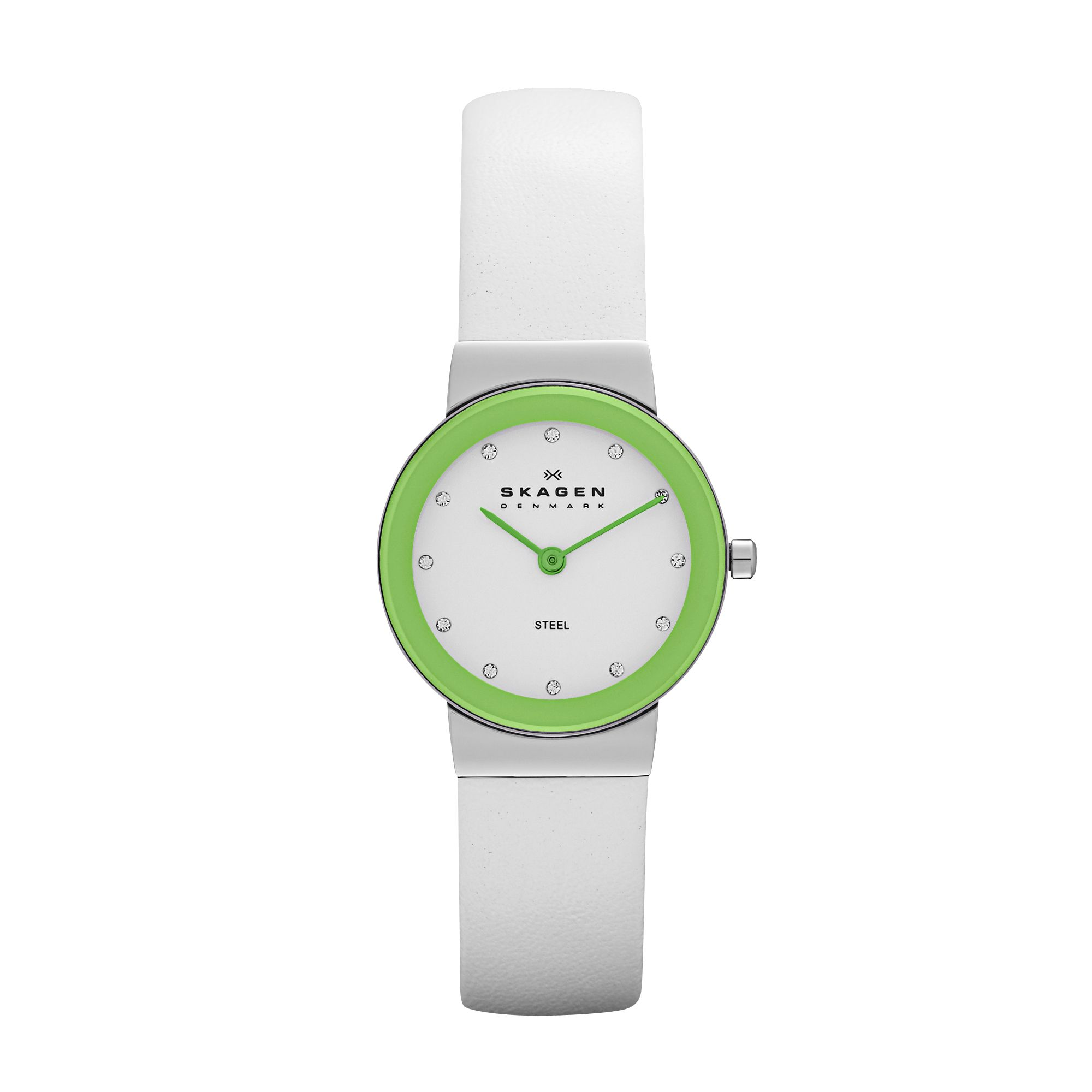 SKW2024 Studio White Leather Ladies Watch