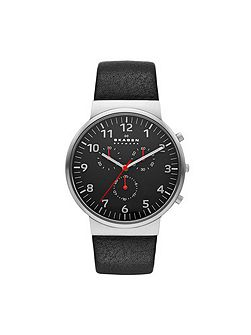 Relaxed 355 Leather Mens Watch