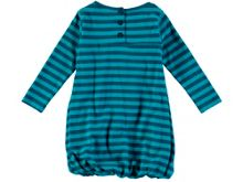 Rockin' Baby Girls Long Sleeve Stripe Bubble Hem Dress