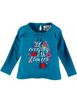 Girls Long Sleeve Flower T-Shirt