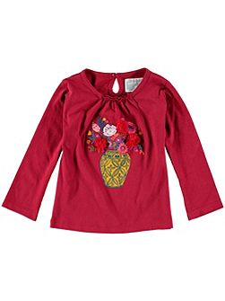 Girls Long-Sleeve Vase T-Shirt