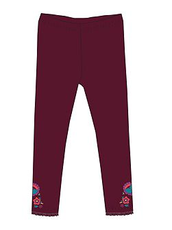 Girls Flower Hem Leggings