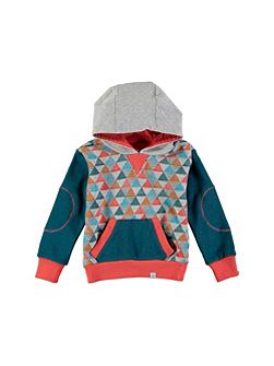 Boys Triangle Printed Hoody