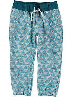 Boys Triangle Print Sweat Pants