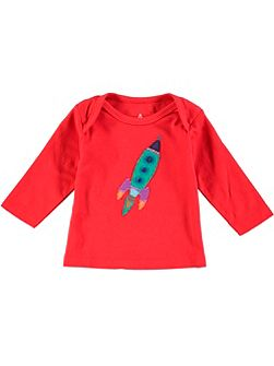 Boys Rocket Applique T-Shirt