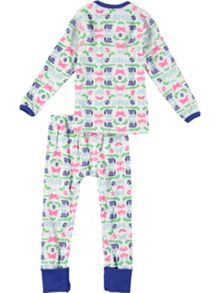 Rockin' Baby Girls Butterfly And Bug Print Pyjama Set