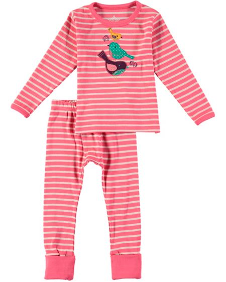 Rockin' Baby Girls Bird Applique Pyjama Set