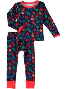 Rockin' Baby Space Print Pj Set