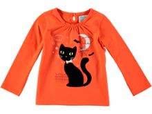 Rockin' Baby Girls Halloween Creepy Cat T-Shirt