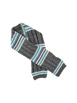 Grey Multi Stripe Scarf