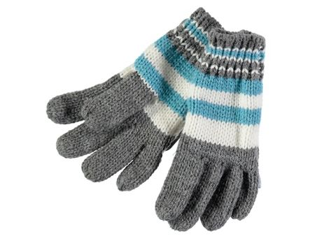 Rockin' Baby Grey Multi Stripe Gloves