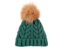 Rockin' Baby Teal Fur Bobble Hat