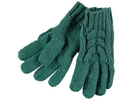 Rockin' Baby Teal Cable Knit Gloves