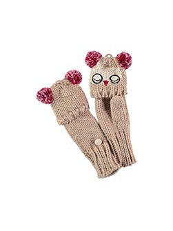 Owl Fold Over Gloves
