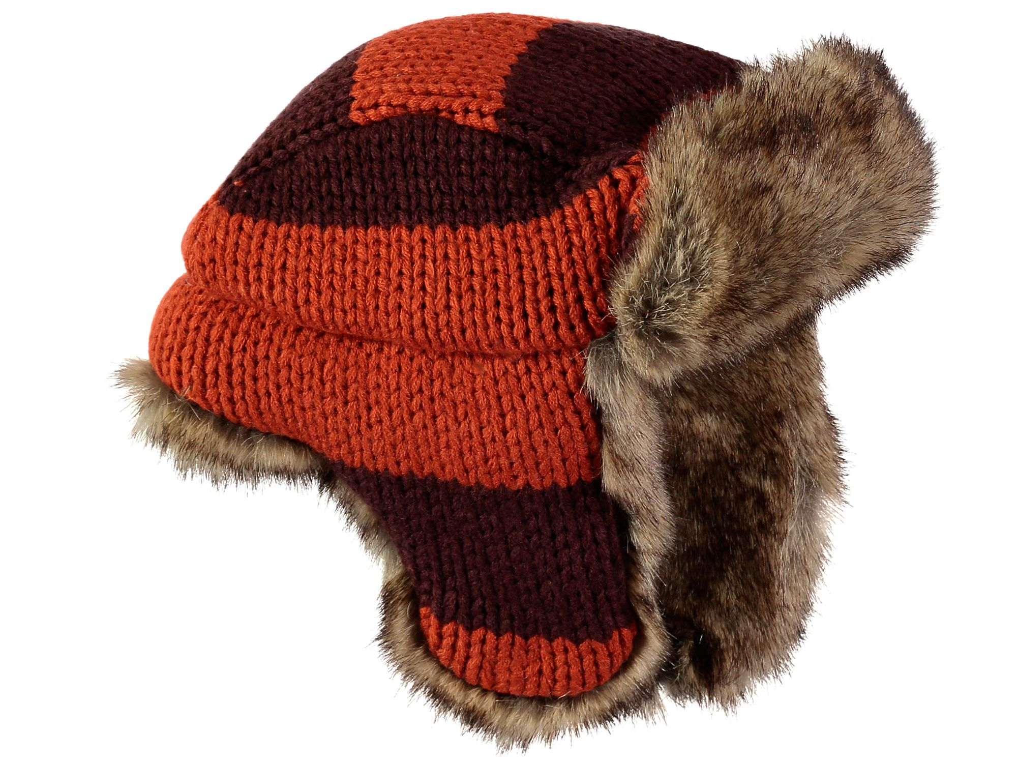 Rockin' Baby Rockin' Baby Brown And Orange Trapper Hat, Multi-Coloured