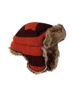 Brown And Orange Trapper Hat