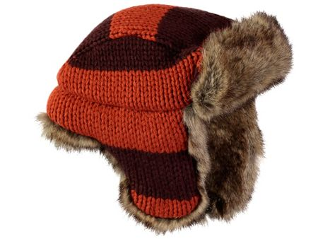 Rockin' Baby Brown And Orange Trapper Hat