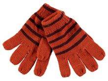 Rockin' Baby Brown And Orange Wool Gloves