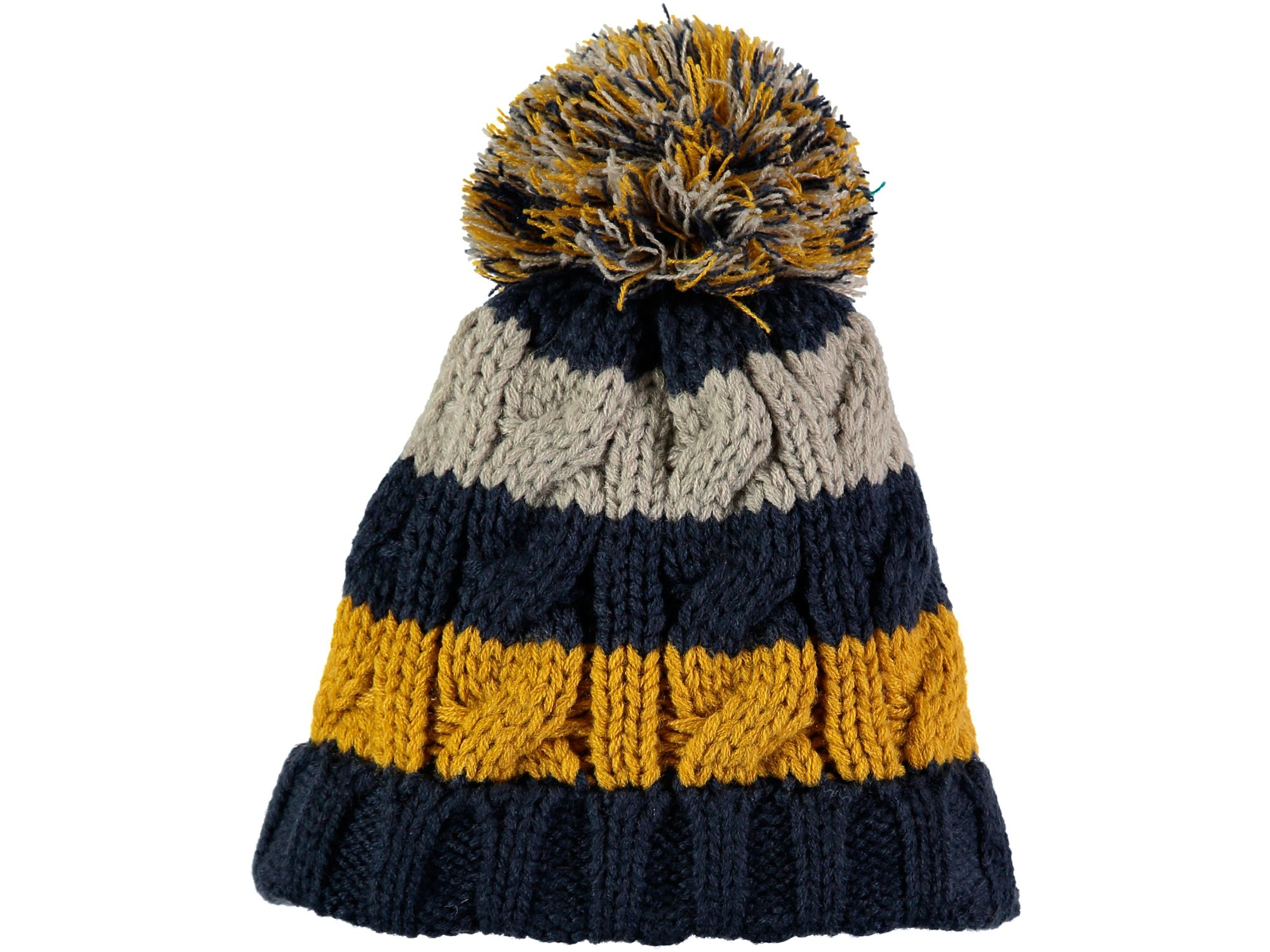 Rockin' Baby Rockin' Baby Navy Stripe Bobble Hat, Multi-Coloured