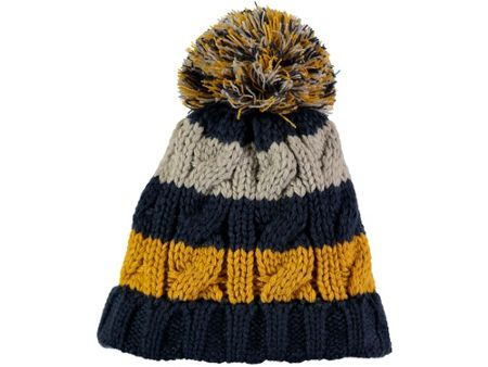 Rockin' Baby Navy Stripe Bobble Hat