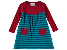 Rockin' Baby Girls Wine Stripe Dress