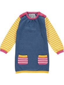 Rockin' Baby Girls Long Sleeve Knitted Dress