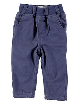 Boys Navy Pull-On Chinos