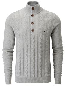 Jackson cable knit lambswool jumper