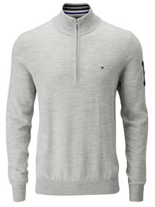 Jacob 1/4 zip merino jumper