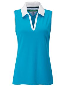 Maureen sleeveless polo